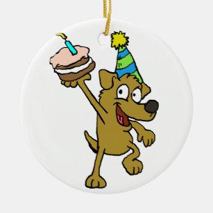 Lustig Hund Geburtstag Weihnachtschmuck Zazzle De