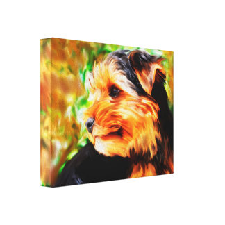 HundeAquarell-Kunst-Porträt Yorkshires Terrier Leinwanddruck