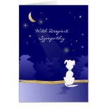 HundeBeileids-Karte - Mond und Sterne