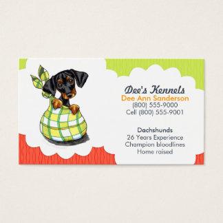 Hundebrüter-Dackel-Welpen-Tomate Limon Visitenkarten