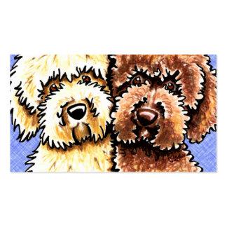 Hundebrüter Labradoodle Rettungs-Blau-Leinwand Visitenkarten