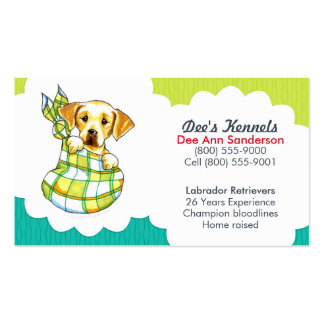 Hundebrüter-Labrador-Welpen-aquamarines Limones Visitenkarten Vorlage