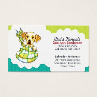 Hundebrüter-Labrador-Welpen-aquamarines Limones Visitenkarten