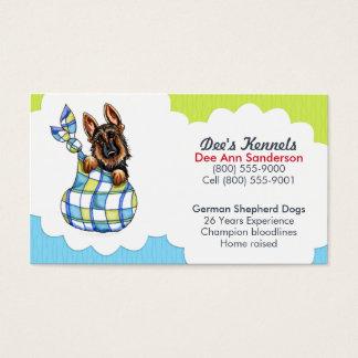 Hundebrüter-Schäferhund-Welpen-blaues Limones Visitenkarten