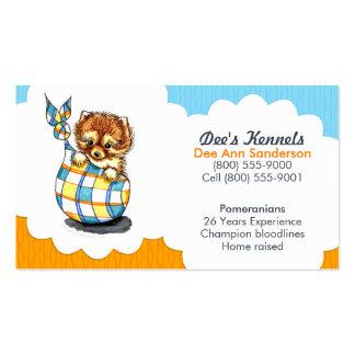 Hundebrüter-Spitz-Welpen-Blau-Zitrusfrucht Visitenkarten