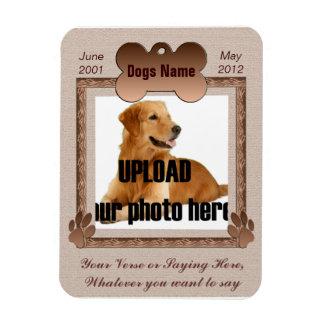 Hundedenkmal - Haustier-Erinnerungsbrown-Töne Magnet