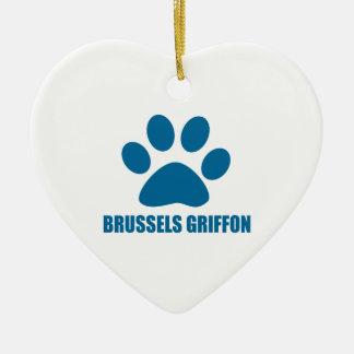 HUNDEentwürfe BRÜSSELS GRIFFON Keramik Ornament