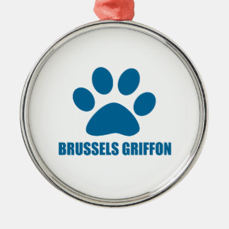 HUNDEentwürfe BRÜSSELS GRIFFON Silbernes Ornament