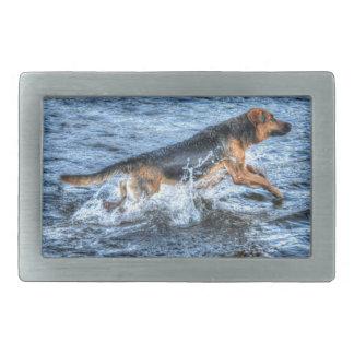 Hundeentwürfe für Haustier-Liebhaber Rechteckige Gürtelschnalle