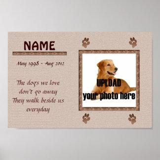 Hundeerinnerungsdruck - Brown-Töne Posterdruck