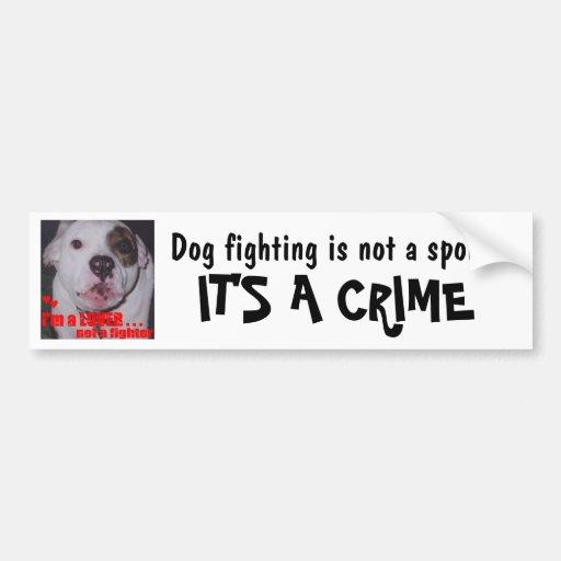 HundeFighting ist- nicht ein Sport, den es ein VER Autosticker