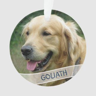 HundeFoto-kundenspezifisches Acrylweihnachten Ornament