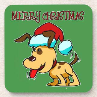 Hundefrohe Weihnacht-Untersetzer