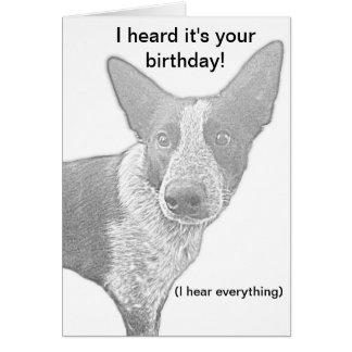 Hundegeburtstags-Karten-Wortspiel Karte