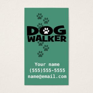 Hundegehen. Hundewanderer-Visitenkarte. aquamarin Visitenkarte