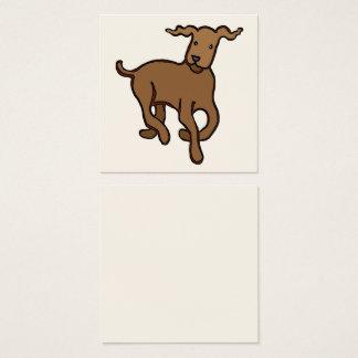 Hundegehen Quadratische Visitenkarte