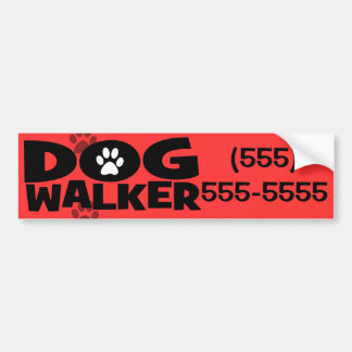 Hundegehen und Hundewanderer-Werbeaktion! Autoaufkleber