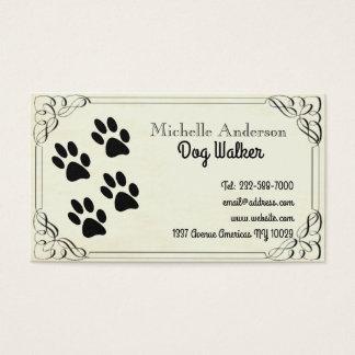 Hundegehen und -tierarzt visitenkarte