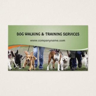 Hundegehen und -trainingsdienstleistungen visitenkarte