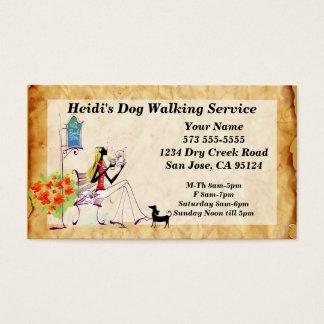 Hundegehende Dienstleistungsunternehmen-Karte Visitenkarte