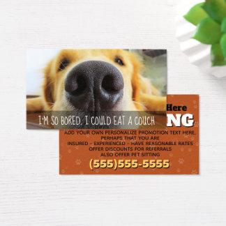 Hundegehende Service-kundengerechte fördernde Visitenkarte