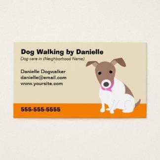 Hundegehendes Geschäft Visitenkarte