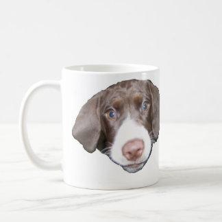 Hundegesicht und Pawprint Tasse