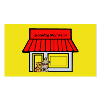 Hundegroomer-Haustier-Produkt-u. Visitenkarten Vorlage
