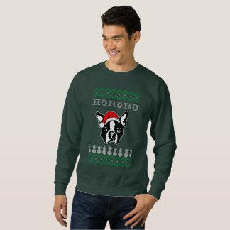 Hundehässliches Weihnachten Bostons Terrier Ho Ho Sweatshirt
