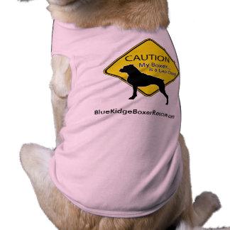 Hundehemd-Vorsicht mein Boxer ist ein Schosshund Top
