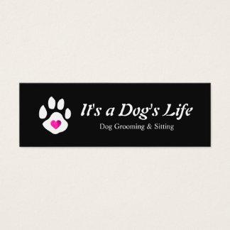 Hundeherz-Tatzen-Haustier-Sitzen und Pflegen Mini Visitenkarte