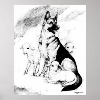 Hundehimmel, die Menge des Meisters Poster