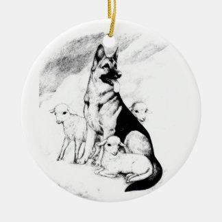 Hundehimmel, die Menge des Meisters Rundes Keramik Ornament