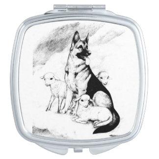Hundehimmel, die Menge des Meisters Taschenspiegel