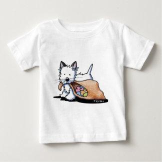 Hundekatze Halloweens Westie Baby T-shirt