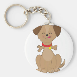 Hundeknochen Standard Runder Schlüsselanhänger