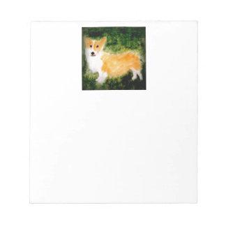 Hundekunstniedlicher Corgi Notizblock