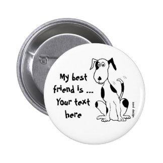 Hundelachen mit ihren Schwänzen! … Knopf Buttons