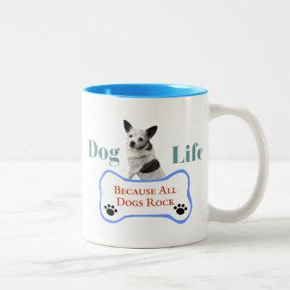 Hundeleben, weil alle Hunde Tasse schaukeln