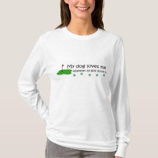 HundeLieben ich was Golfkerbe T-Shirt