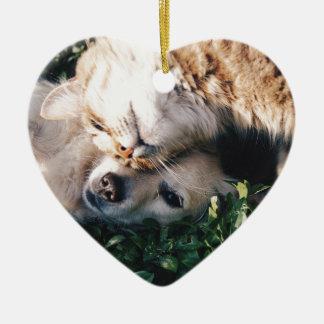 HundeLiebenKitty Keramik Herz-Ornament