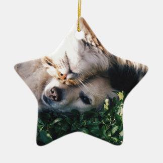 HundeLiebenKitty Keramik Stern-Ornament