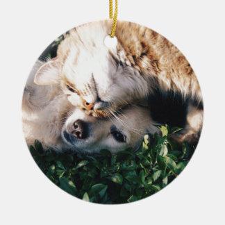 HundeLiebenKitty Rundes Keramik Ornament