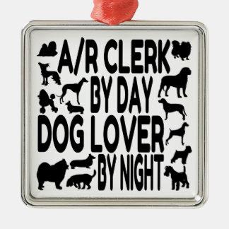 Hundeliebhaber-Außenstände-Sekretär Silbernes Ornament