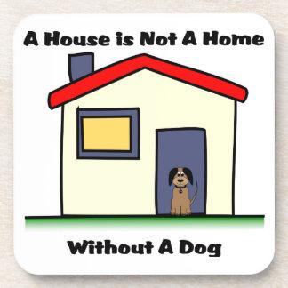 Hundeliebhaber-Haus ist- nicht ein Getränke Untersetzer