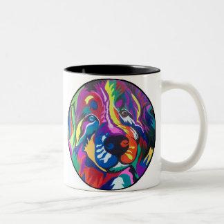 Hundeliebhaber-Tasse Zweifarbige Tasse