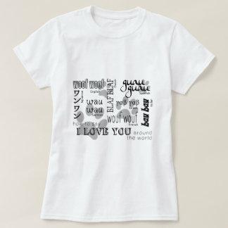 Hundeliebhaber - wie man i-Liebe Sie sagt T-Shirt