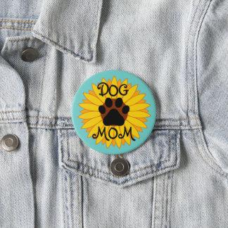 Hundemamma-Sonnenblume-Tatzen-Druck-Knopf alle Runder Button 7,6 Cm