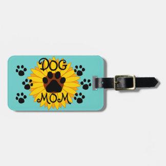 Hundemamma-Sonnenblume-Tatzen-Druck-Taschen-Umbau Gepäckanhänger