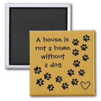 Hundemitteilungs-Kühlschrankkunst Quadratischer Magnet